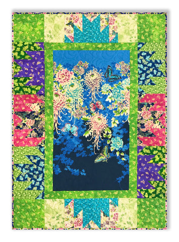 "Flights of Fancy from Paintbrush Studio - Panel Quilt VIDEO BUNDLE - Includes Pre-cut 10"" Layer Cake"