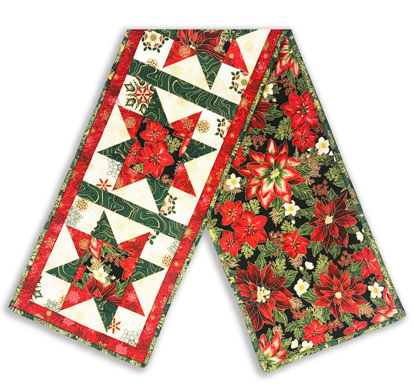 Robert Kaufman Christmas Metallic Pre-Cut North Star Table Runner Kit - Holiday Flourish