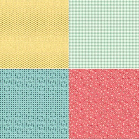Riley Blake Vintage Happy 2 C9146 Two Fat Quarter 1 Yard PANEL By the PANEL (not strictly by the yard)