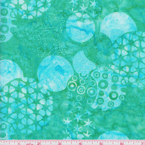 Hoffman Bali Batik F 2048 Green Graphic Circle by the yard