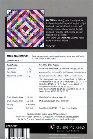 FACETED - Robin Pickens Quilt Pattern