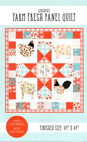 Moda Farm Fresh ANIMAL PANEL Quilt Kit -Pre-cut Bundle