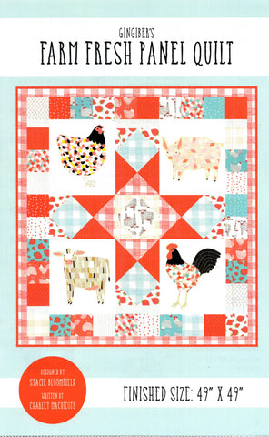 Farm Fresh Panel Quilt - Gingiber's Quilt Pattern