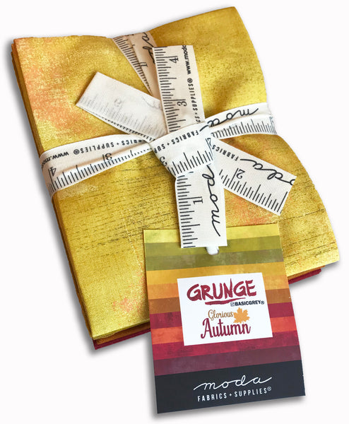 Moda Grunge Pre-Cut 10 Piece Fat Quarters - Glorious Autumn