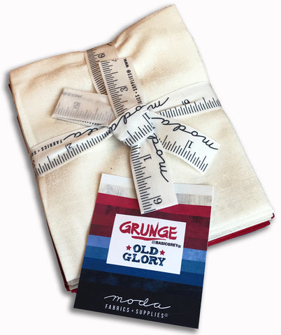 Moda Grunge Pre-Cut 10 Piece Fat Quarters - Old Glory