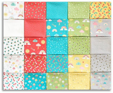 Moda Pre-Cut 25 Piece Fat Quarter Bundles - Hello Sunshine