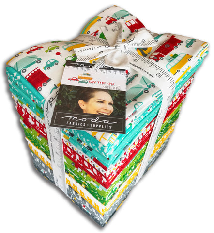 Moda Pre-Cut 36 Piece Fat Quarter Bundles - On The Go
