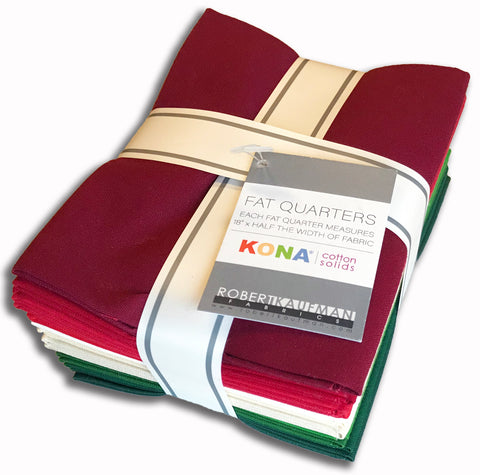 Kaufman Kona Pre-Cut 12 Fat Quarters 1379 42 - Holiday