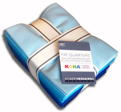 Kaufman Kona Pre-Cut 12 Fat Quarters 921 12 - Sky Gazer