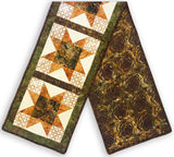 Bali Batik Pre-Cut North Star Table Runner Kit - Fern Gully