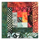 Hoffman Scrappy Batik PRE-CUT 12 Block Log Cabin Quilt Kit - Fire Dance