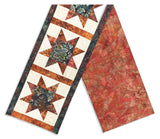 Hoffman Bali Batik Pre-Cut North Star Table Runner Kit - Firestone