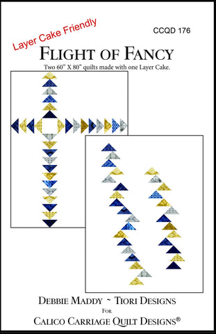 FLIGHT OF FANCY - Calico Carriage Quilt Designs Pattern CCQD176 DIGITAL DOWNLOAD