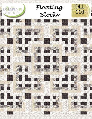 FLOATING BLOCKS - Lavender Lime Quilt Pattern DLL 110