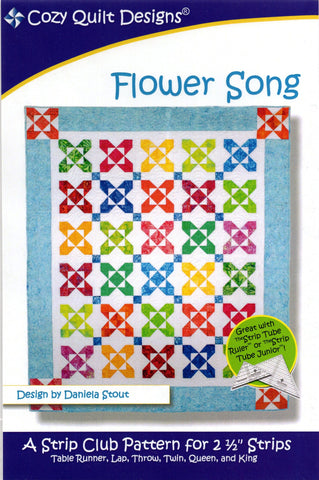 FLOWER SONG - Cozy Quilt Designs Pattern DIGITAL DOWNLOAD