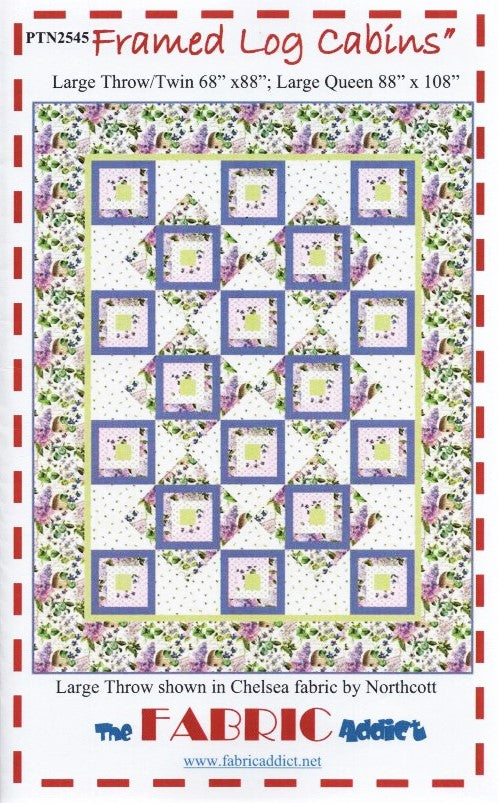 Framed Log Cabins Quilt Pattern From The Fabric Addict Featuring Che Jordan Fabrics