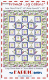 FRAMED LOG CABINS -  Quilt Pattern from The Fabric Addict Featuring Chelsea Prints