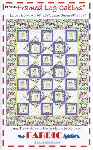 FRAMED LOG CABINS -  Quilt Pattern from The Fabric Addict