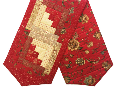 Moda Pre-cut Log Cabin Table Runner Kit - French General 8
