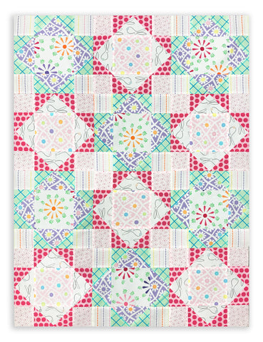 Moda Fabrics Baby Quilt Pre-Cut 12 Block King's Crown Quilt Kit - Frolic