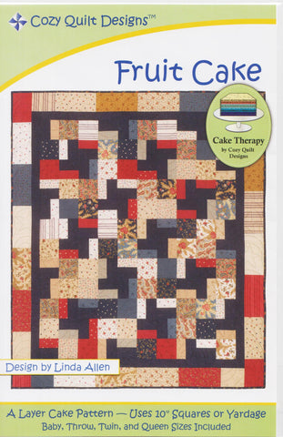 Cozy Quilt Design Cake Therapy Pattern - FRUIT CAKE