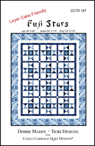 FUJI STARS - Calico Carriage Quilt Designs Pattern CCQD167 DIGITAL DOWNLOAD