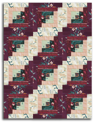 Art Gallery Fabrics PRE-CUT 12 Block Log Cabin Quilt Kit - Fusion Foresta