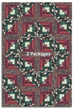 Art Gallery Fabrics PRE-CUT 12 Block Log Cabin Quilt Kit - Forest Berry