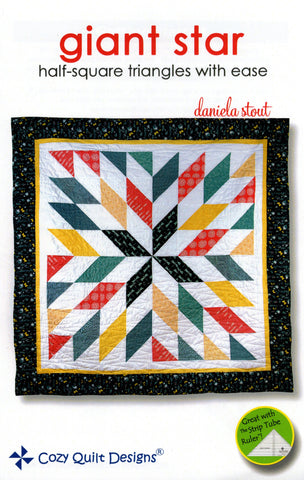 GIANT STAR - Cozy Quilt Designs Pattern DIGITAL DOWNLOAD