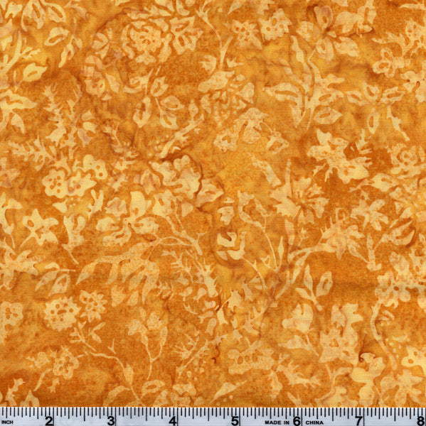 Hoffman Bali Batik MUL 4030 Golden Flowers By The Yard