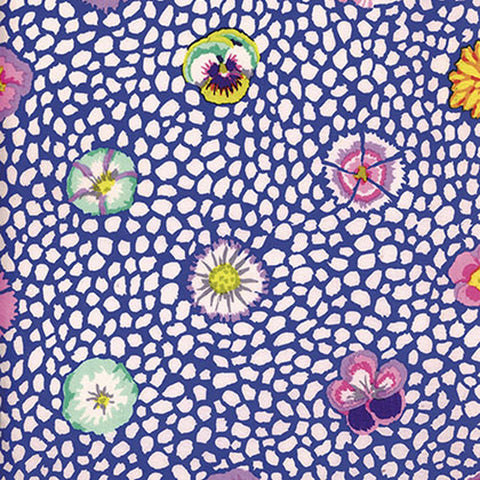 Free Spirit Kaffe Fassett PWGP059  Guinea Flower - Blue By The Yard