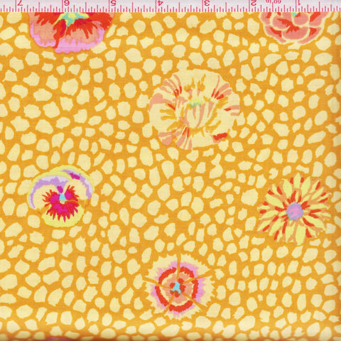 Free Spirit Kaffe Fassett Collective GP59 Gold Guinea Flower by the yard