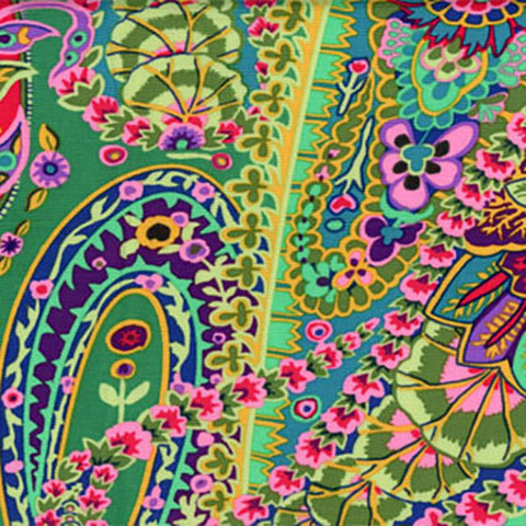 Rowan Kaffe Fassett GP60 Green Paisley Jungle By The Yard