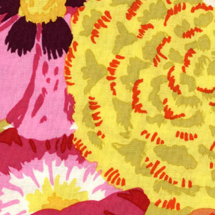 Free Spirit Kaffe Fassett GP69 Orange Bekah Large Floral By The Yard