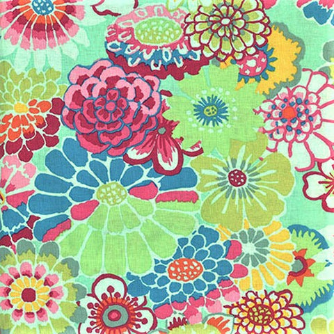 Free Spirit Kaffe Fassett GP89 Green Asian Circles By The Yard