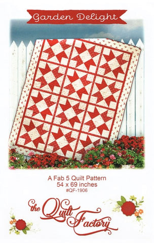 GARDEN DELIGHT - The Quilt Factory Pattern QF-1906 DIGITAL DOWNLOAD