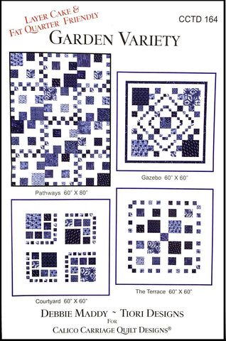 GARDEN VARIETY - Calico Carriage Quilt Designs Pattern CCQD164 DIGITAL DOWNLOAD