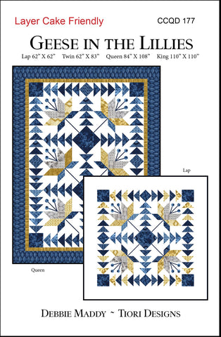 GEESE IN THE LILLIES - Calico Carriage Quilt Designs Pattern CCQD177 DIGITAL DOWNLOAD