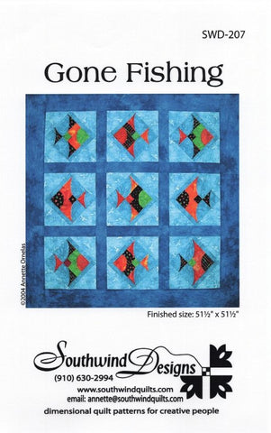 GONE FISHING - Quilt Pattern By Southwind Designs SWD-207