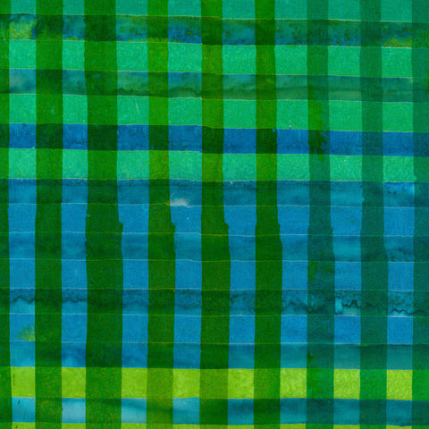 Kaufman Artisan Batiks Hand Painted Gingham 17769 7 Green Gingham By The Yard