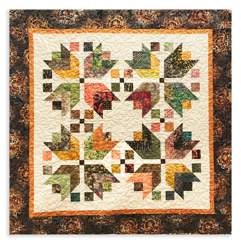 Hoffman Bali Batiks VIDEO BUNDLE Harvest Pattern Quilt Kit - Harvest Batiks