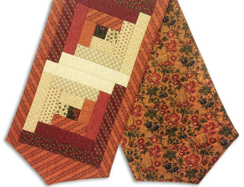 Moda Fabrics Pre-Cut Log Cabin Table Runner Kit - Harvest Hill