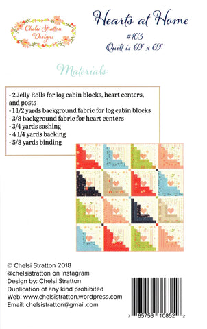 Chelsi Stratton Designs Pattern # 103 -  HEARTS AT HOME