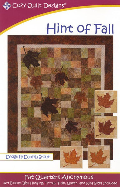 HINT OF FALL - Cozy Quilt Designs Pattern DIGITAL DOWNLOAD