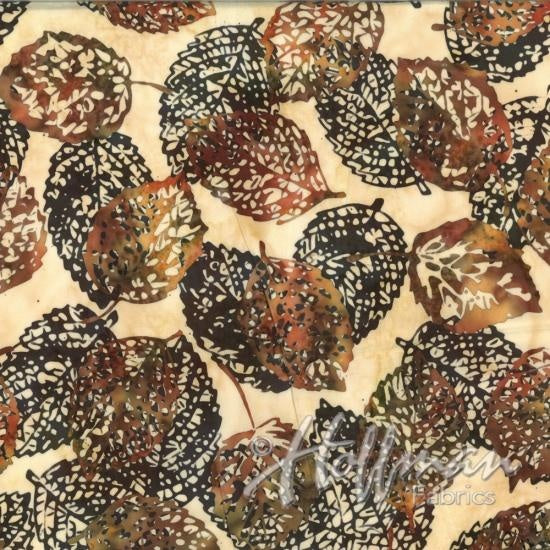 Hoffman Bali Batiks 2133 36 Amber Shadowed Leaves By The Yard