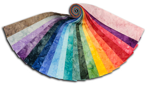 Hoffman Bali Poppy Batiks 20 Piece Pre-Cut Jelly Roll - Ombre