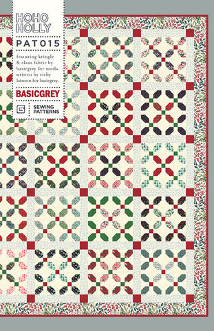HOHO HOLLY - BASICGREY Quilt Pattern 015