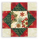 Robert Kaufman Christmas Metallic Pre-Cut 12 Block King's Crown Quilt Kit - Holiday Flourish