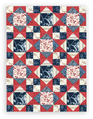 Moda Pre-Cut 12 Block King's Crown Quilt Kit - Holly Woods