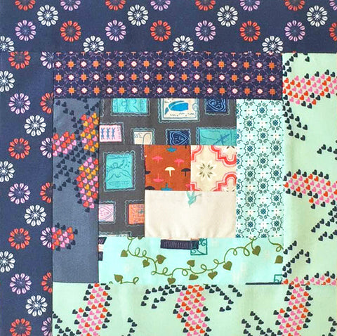 Cotton + Steel Pre-cut Log Cabin Quilt Kit - Homebody